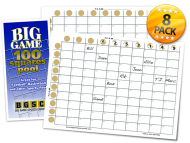 Big Game 100 Squares Pool 8-pack